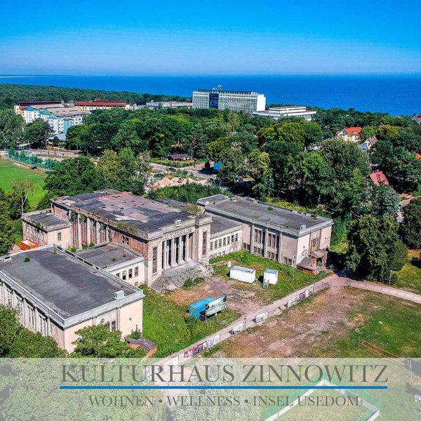 Ferienwohnung an der Ostsee kaufen - Kulturhaus Zinnowitz mit Meerblick