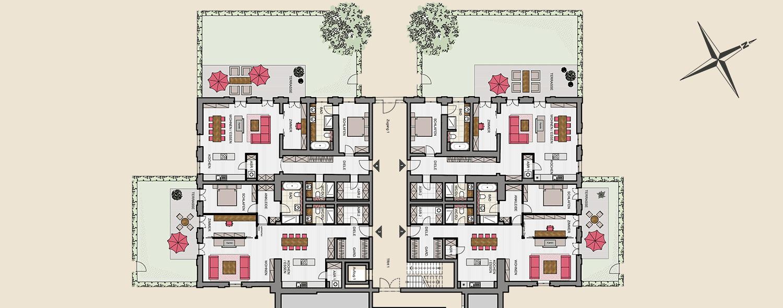 Hauptgebäude Sockelgeschoss