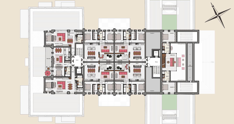 Hauptgebäude 3. Obergeschoss