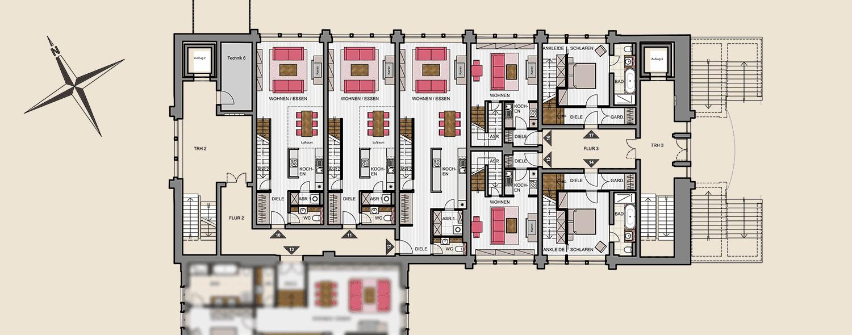 Seitenflügel Nord 1. Obergeschoss
