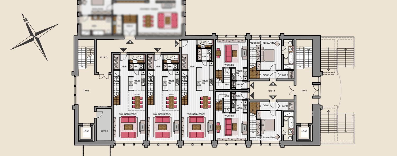 Seitenflügel Süd 1. Obergeschoss