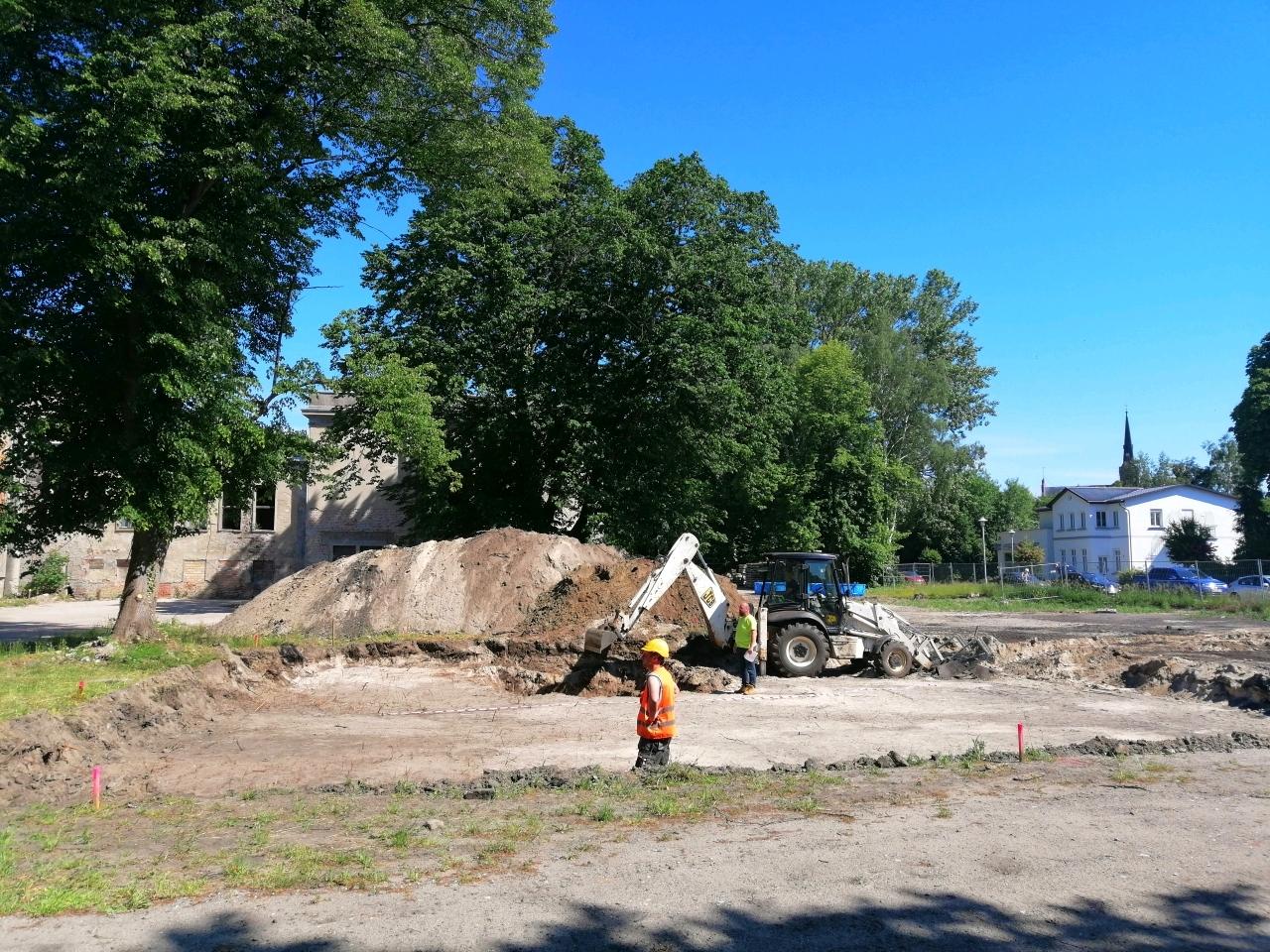 Ausgrabungsarbeiten am Kulturhaus